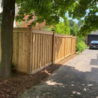 cedar fence capped posts
