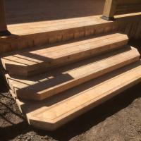 close up deck stairs