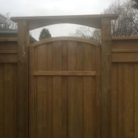 Wood Gate With Custom Top