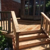 deck patio stairs