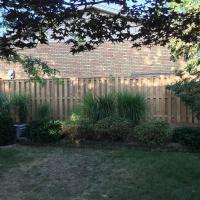 double panel wood fence