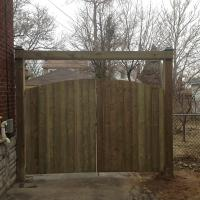 Double Wood Curved Top Gate