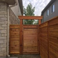 Fully Custom Wood Gate & Top