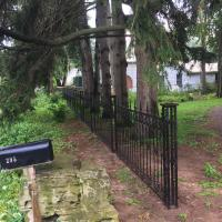 iron decorative black fence 2