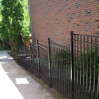 Side View Of Modular Iron Fence