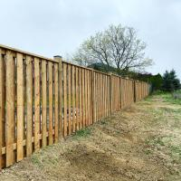 side horizontal wood fence
