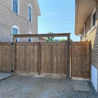 wood fence double gate 6x6