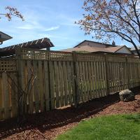 Wood Fence With Top Trim